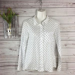 Madewell cotton button-down shirt white/black S